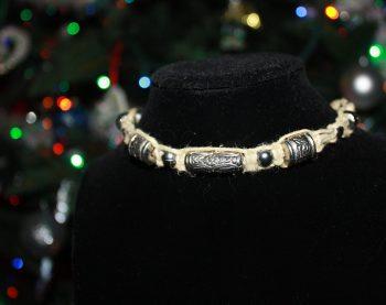 Metallic Bead Hemp Necklace